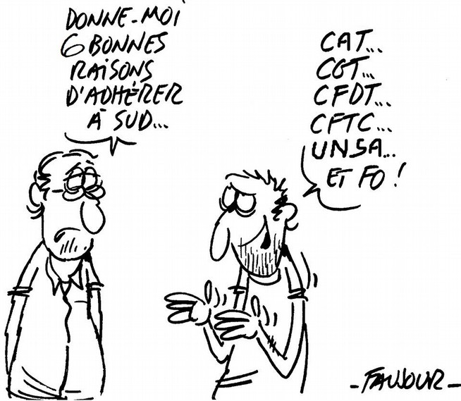 Adhérer à SUD selon Faujour