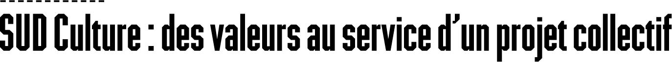 SUD Culture - des valeurs au service d'un projet collectif