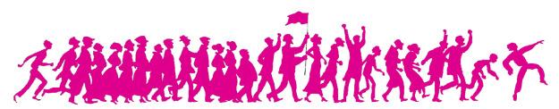 Manifestant-es couleur Solidaires